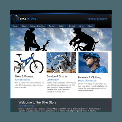 Fahrradgeschäft (Web-Vorlage)