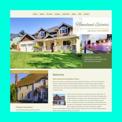 Immobilienmakler 2 (Web-Vorlage)