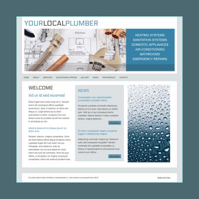 Klempner 3 (Web-Vorlage)