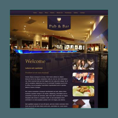 Pub und Bar 4 (Web-Vorlage)